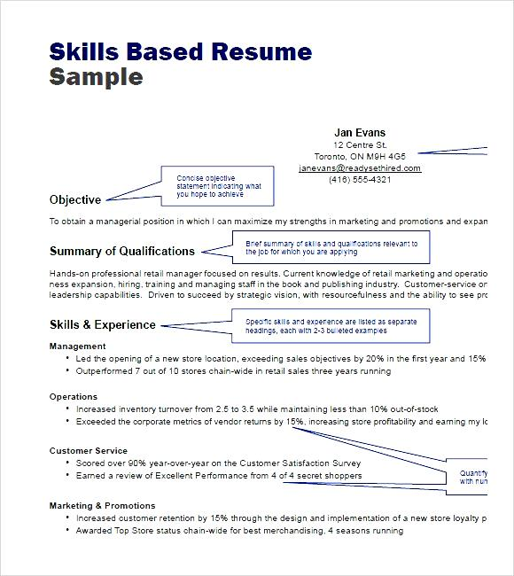 Skills Based Resume Example Skill Based Resume Examples