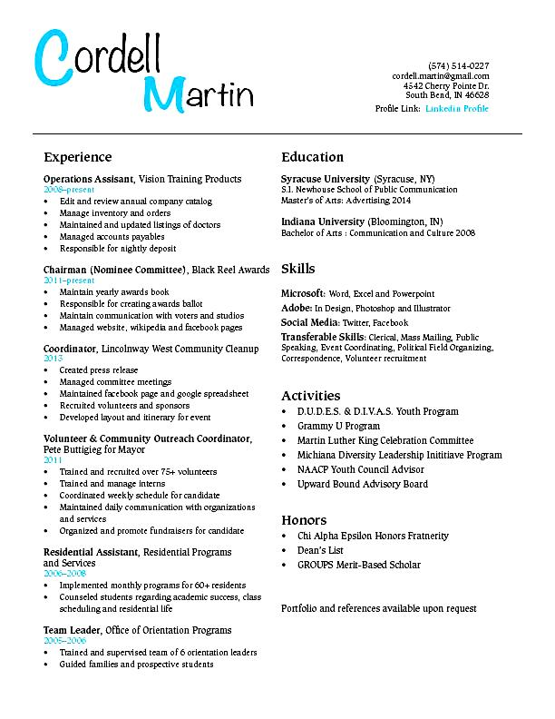 high school to college resume examples