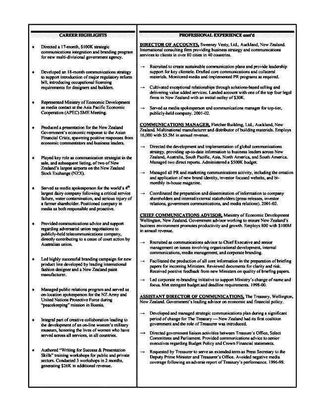 Executive Level Resumes Resume Sample
