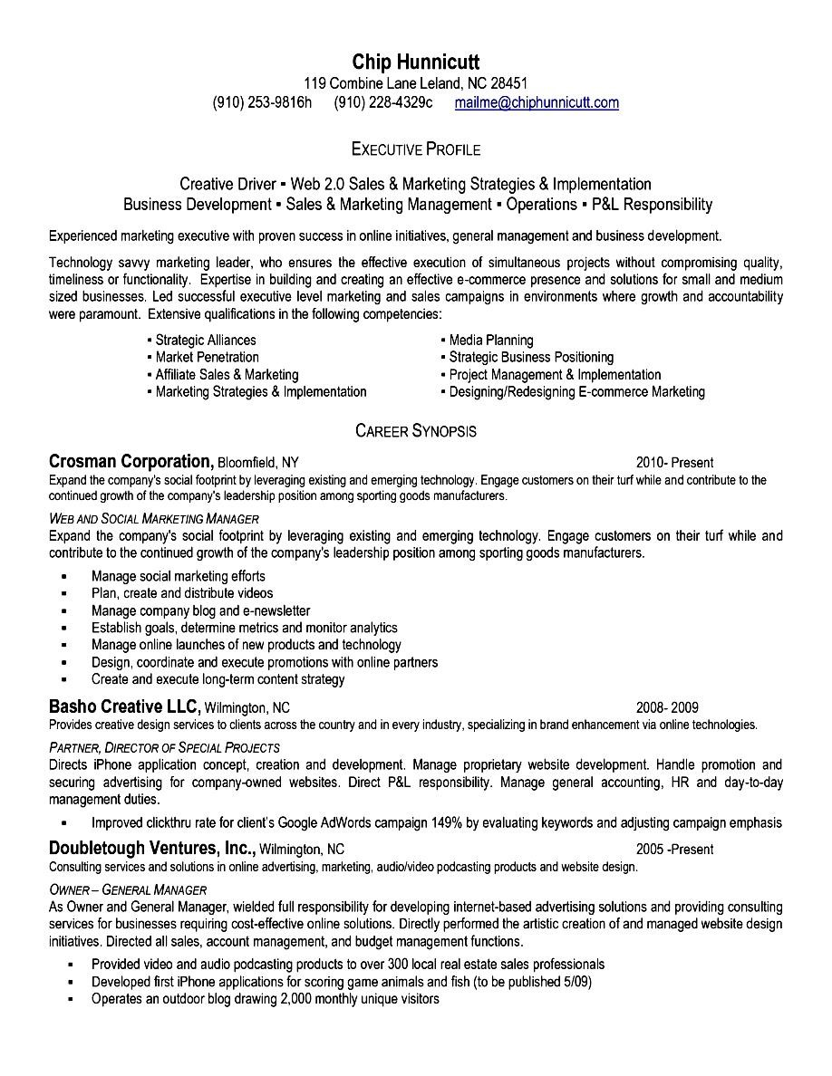 Executive Level Resume  Free Samples  Examples  Format