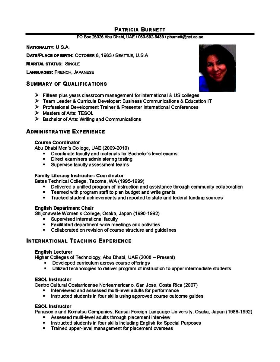Make An Academic Resume Free Samples Examples Format