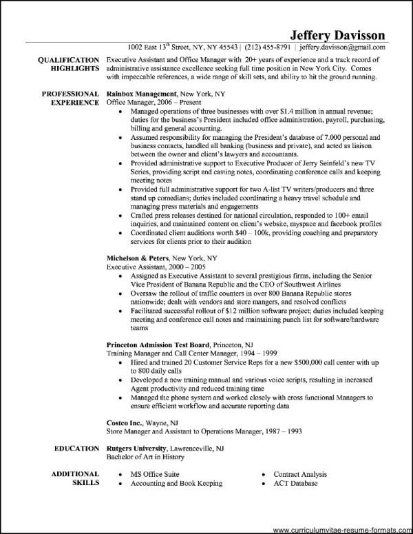 Resume For Office Administration azwgtk