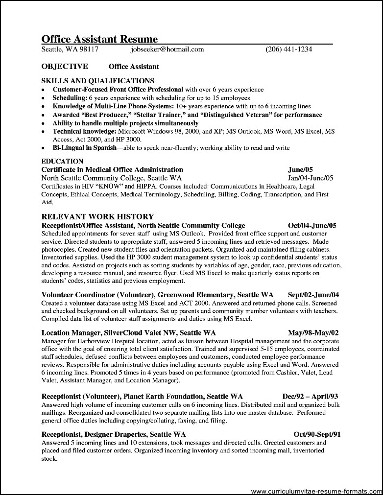 administrative professional resume example. office manager ...