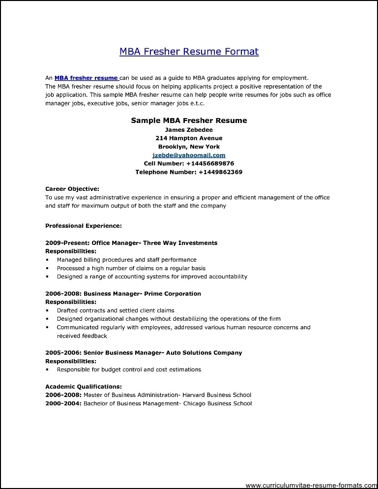 Best Resume Format For Freshers Computer Engineers How To Make