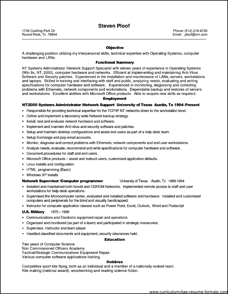 Resume Examples For Experienced Professionals - Examples of Resumes