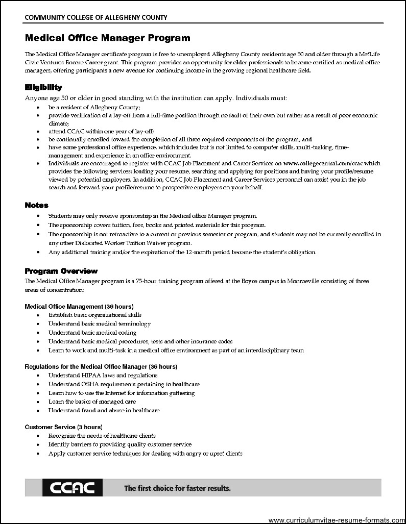 Sample Resume For Gym Manager | CV Writing Services