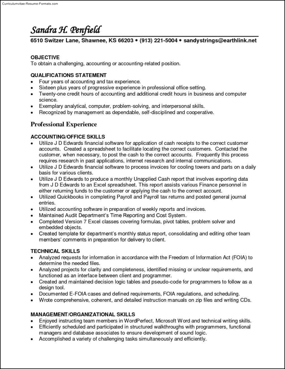 Accounts Payable Resume Template  Free Samples  Examples