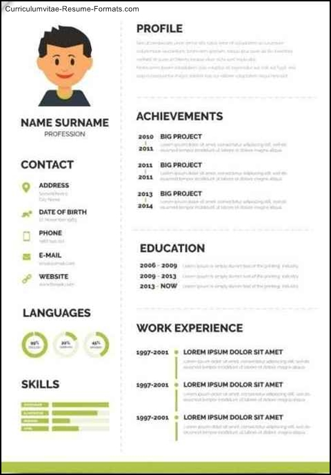 Fancy Resume Templates  Free Samples  Examples  Format Resume  Curruculum Vitae