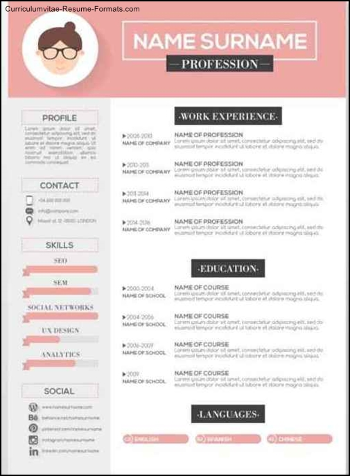 Free Artistic Resume Templates Free Samples Examples