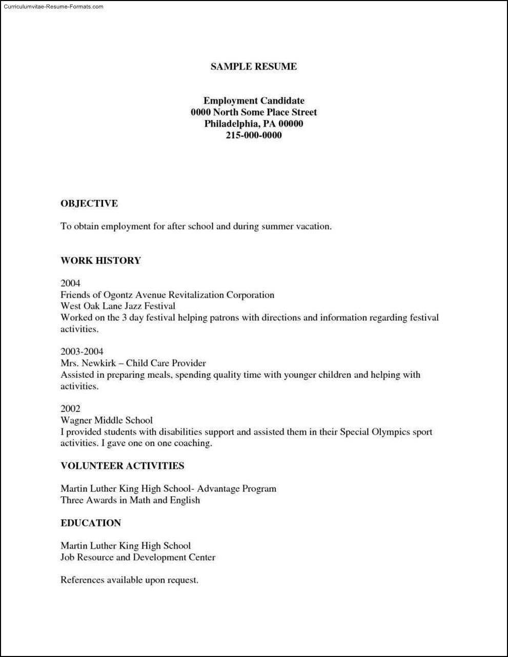 Free Printable Resumes Templates  Free Samples  Examples  Format Resume  Curruculum Vitae