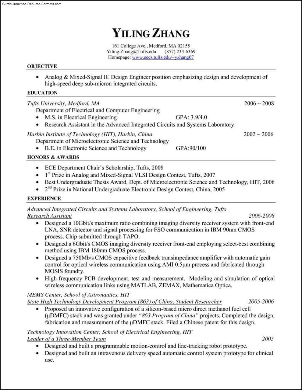 Free Resume Templates Pdf  Free Samples  Examples