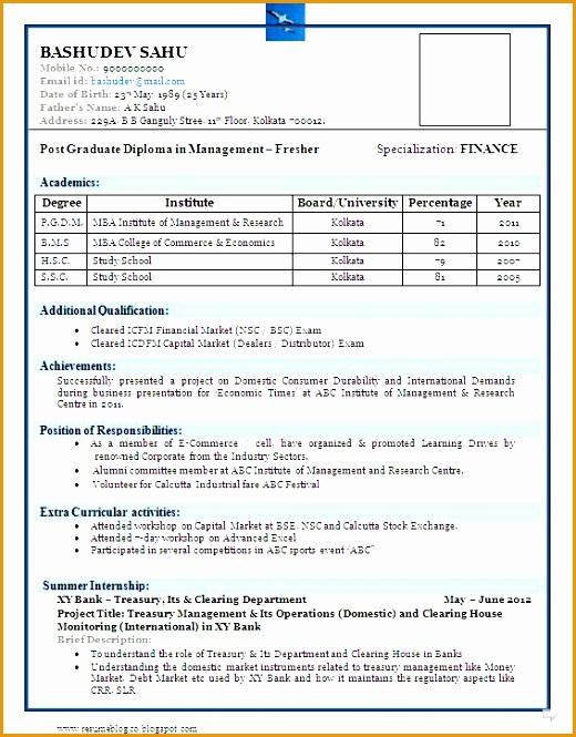 sample resume for commerce graduate