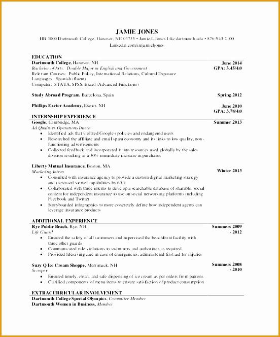format of making resume