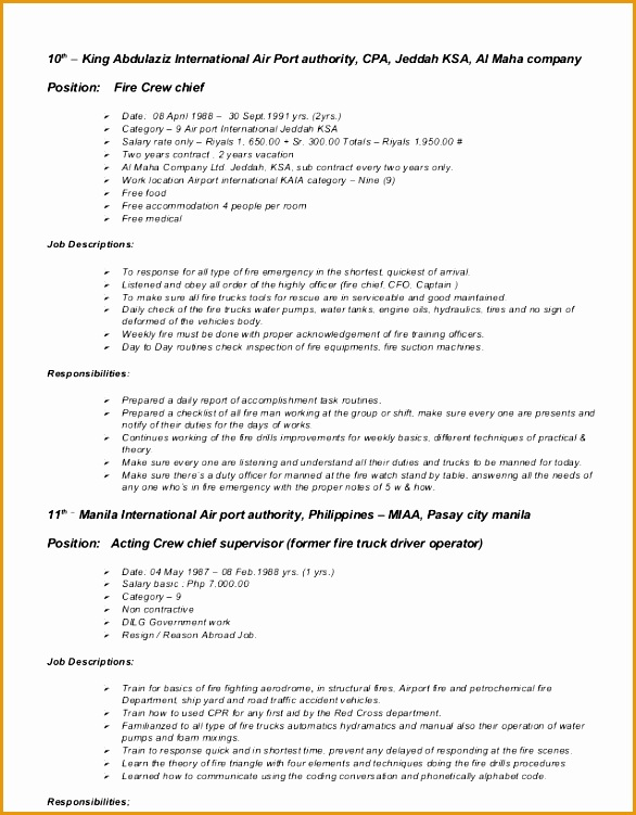 Fire Captain Resume Sample Fire Resumes Livecareer Masterlist