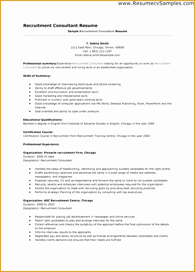 recruitment manager resume examples