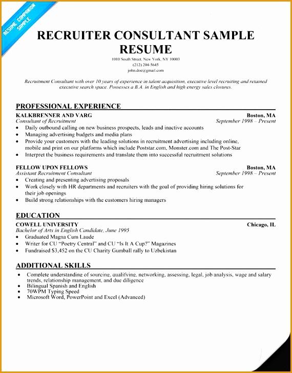 7 Recruitment Consultant Resume Sample  Free Samples  Examples  Format Resume  Curruculum Vitae