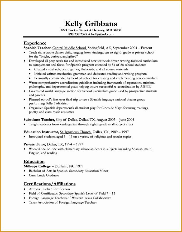 practicum resume templates