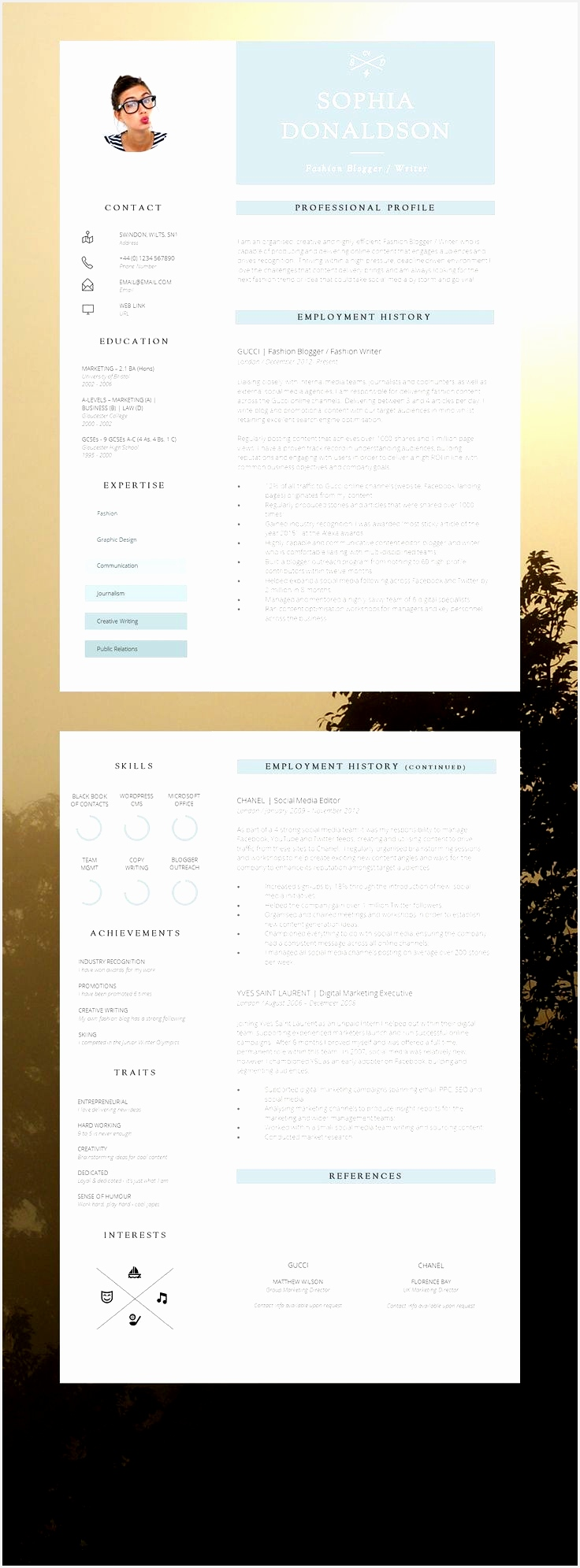 cv template by denisco and barker 2015  Free Samples