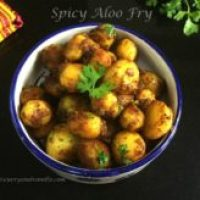 Spicy Baby Aloo Fry/Indian Style Baby Potato Stir Fry