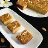 Eggless Gulab Jamun Cake Recipe