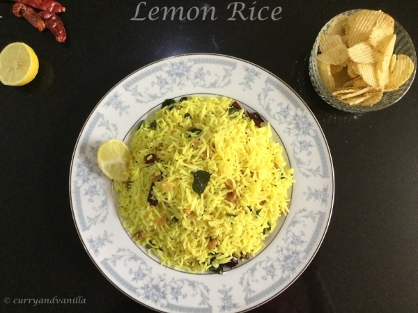 Lemon rice recipe south indian style curry and vanilla lemon rice recipe south indian style forumfinder