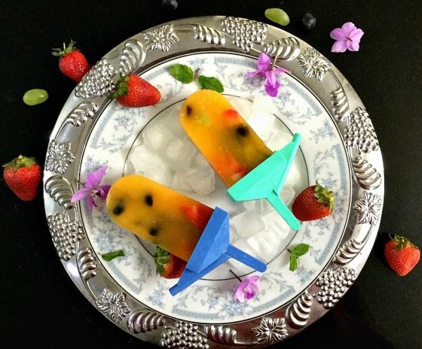 Mango and Mixed Fruit Popsicle