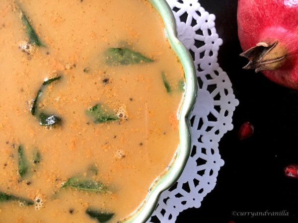 Pomegranate Peel Kadi (South Indian Coconut Curry)