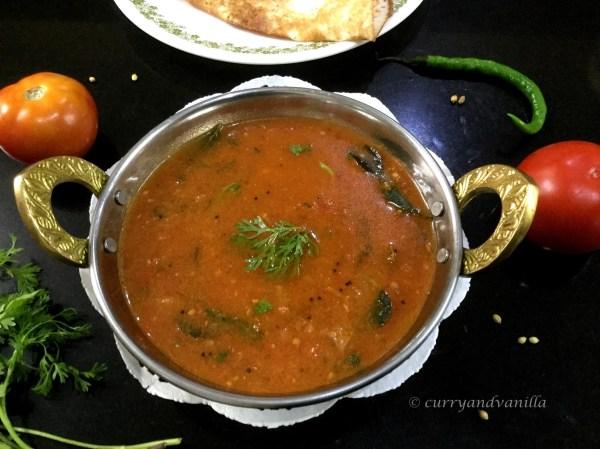 10-Minute Instant Tomato Sambar