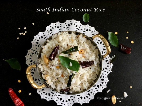 SOUTH INDIAN COCONUT RICE - CurryandVanilla
