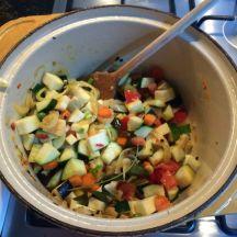griesmeel met groenten