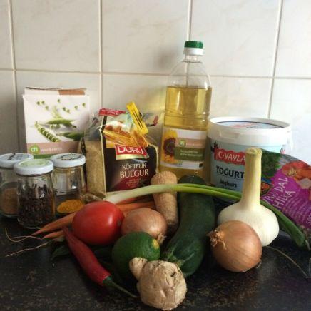Ingrediënten uit je groentenla