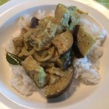 Aubergine curry uit Sri Lanka