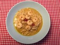 currysoep met garnalen