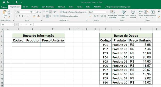 Procv: procura uma determinada informação na planilha