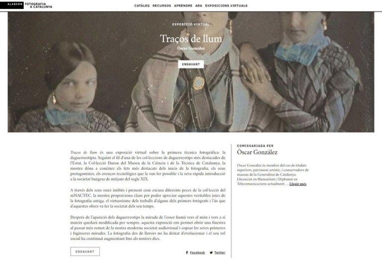 Participation à la première exposition virtuelle du nouveau centre FOTOGRAFÍA A CATALUÑA  en collaboration avec le mNACTEC : «TRAÇOS DE LLUM» , organisée par OSCAR GONZÁLEZ.
