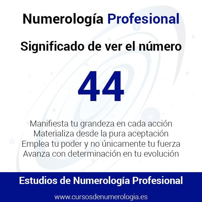 significado de ver el número 44