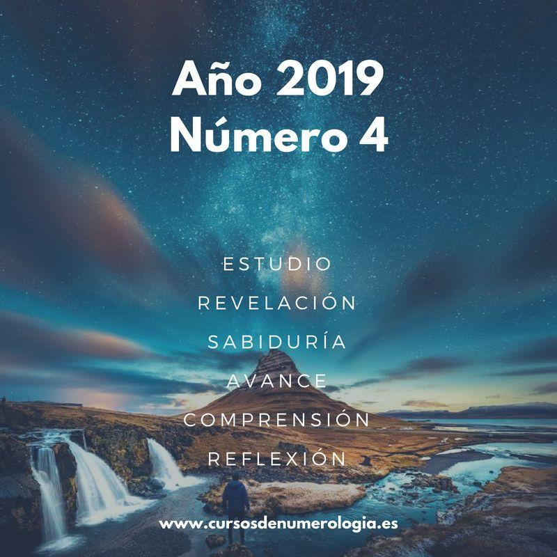 año numerológico 2019 para el número 4