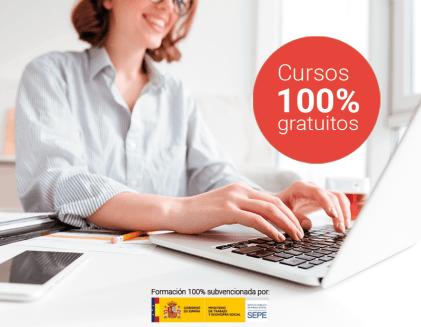 Cursos online 100% subvencionados