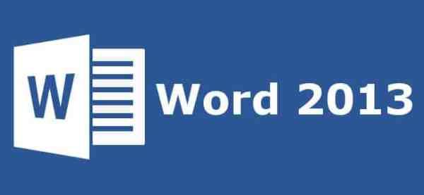 Aprender Word 2013