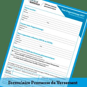 Formulaire promesse de versement 2018
