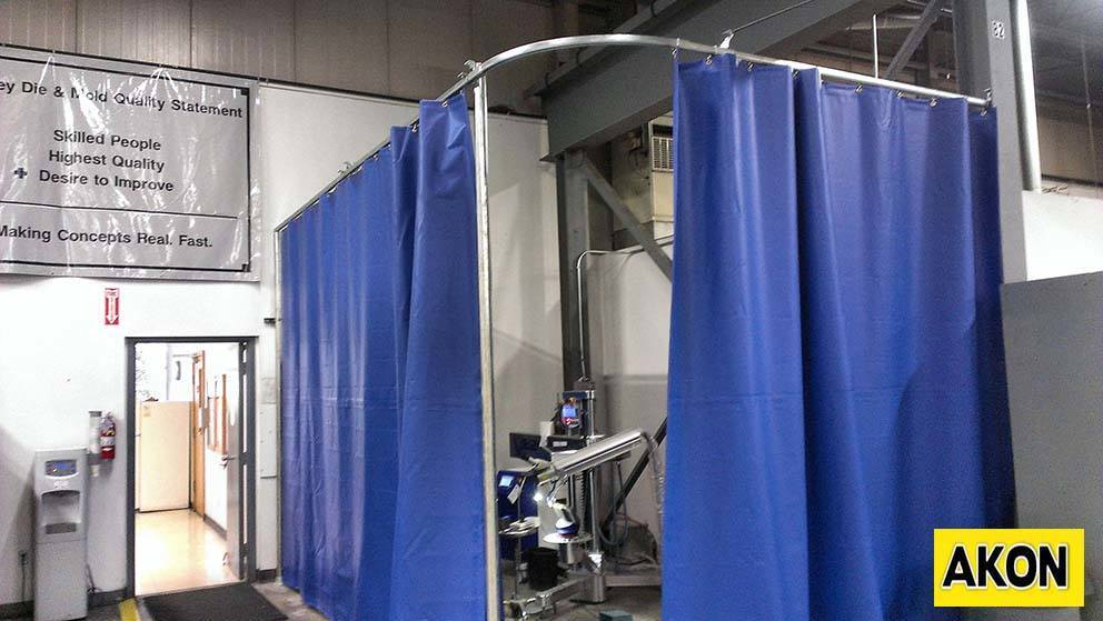 Industrial Sliding Curtains  Akon  Curtain and Dividers