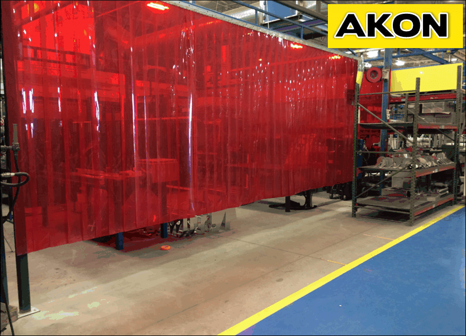 Welding Strip Curtains  Akon  Curtain and Dividers