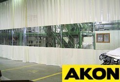 plastic industrial curtains