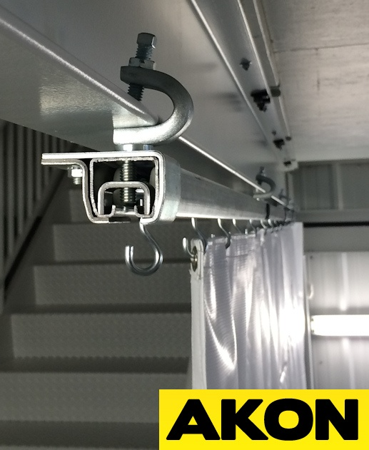industrial curtain track hardware