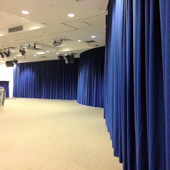 church divider curtains separate