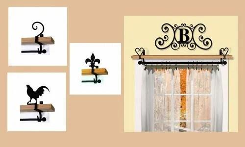 Adding Shelf Space with Curtain Rod Brackets