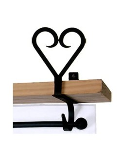 Heart Curtain Rod Brackets