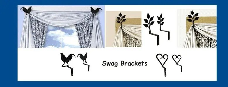Curtain Brackets For Swag Drapes Easy To Install Wall Mount