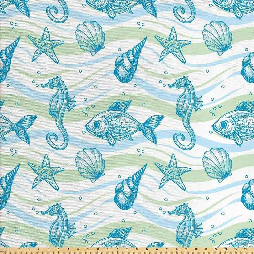 ocean-shell-starfish-fabric