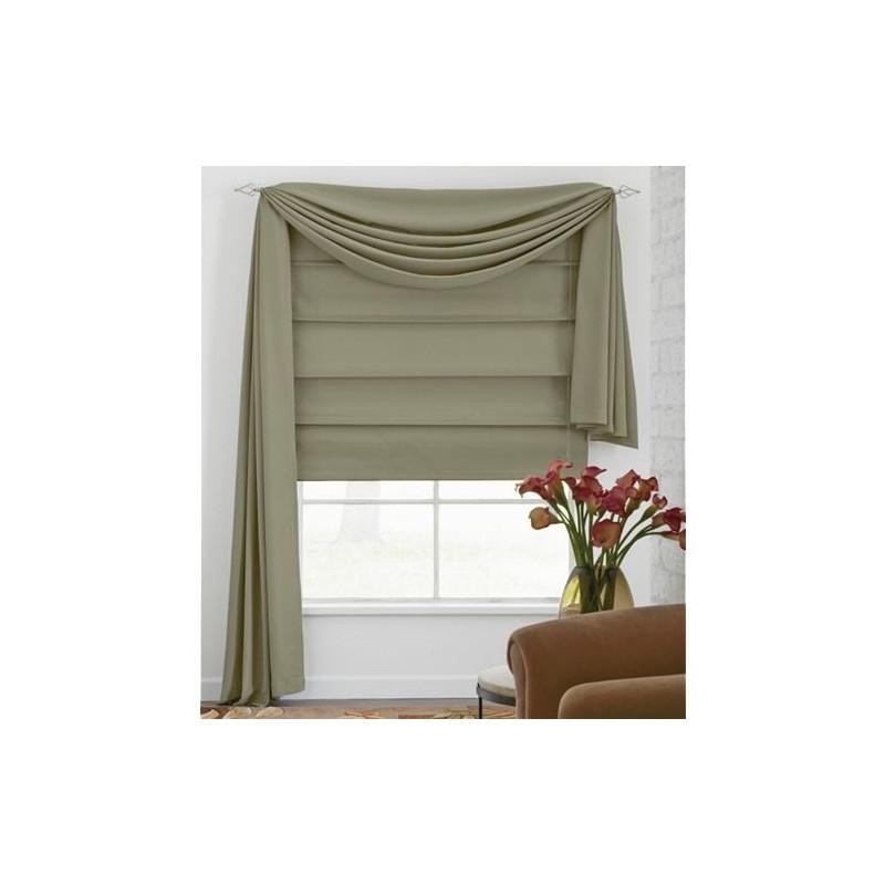 Microfiber Fabric Roman Shade  CurtainDraperycom